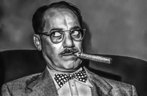 Groucho Marx fumando